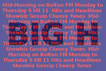 Mid Mornings with Big H Monday to Thursday 9am till 11am